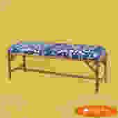 Rattan Upholstered Bench