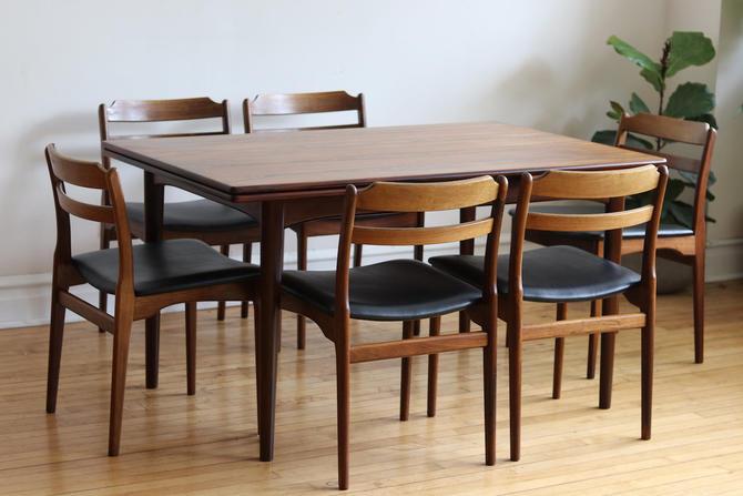 Mid Century Danish Modern Rosewood Multi-Toned Dining Set by SharkGravy