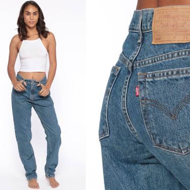 Levis Mom Jeans 28 -- High Waist Jeans 80s Jeans Blue Jeans Levi High Waist Denim Pants 560 Straight Leg 1980s Vintage Small 28 by ShopExile