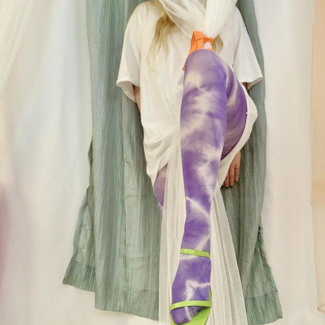Carebear Tie Dye Tights by shopjournal