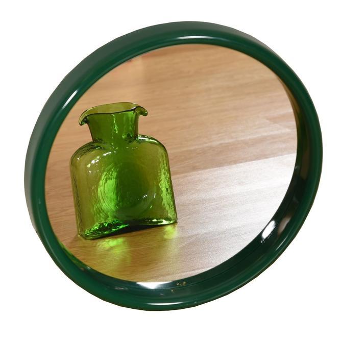 Round Green Vintage Mirror