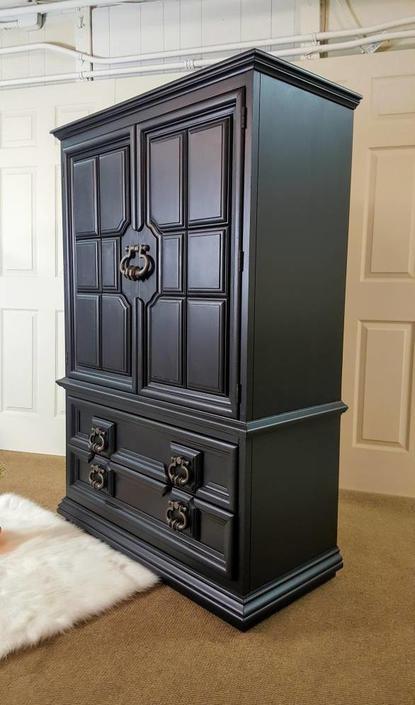 Black armoire (Thomasville) Dresser / Chest / wardrobe
