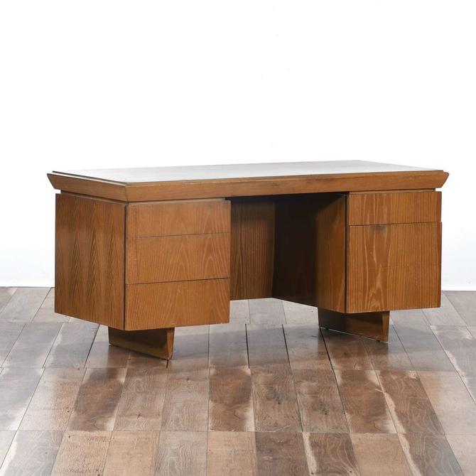 Brown Saltman Mid Century Modern Executive Desk