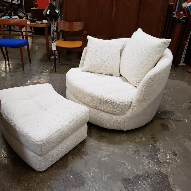 Milo Baughman Gaint Tub Chair & Ottoman