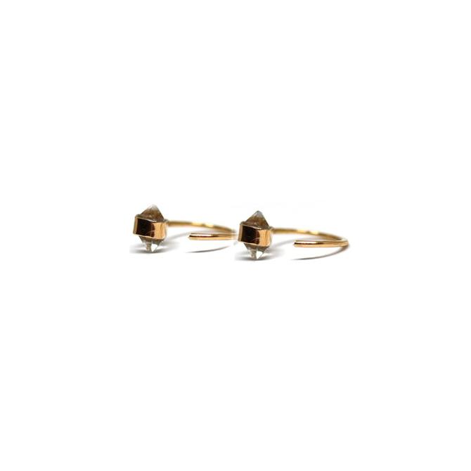 Herkimer Diamond Hug Earrings