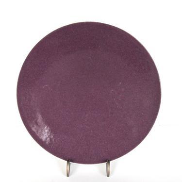 4 Sasaki Colorstone Salad Plates In Plum, Massimo Vignelli Purple Colorstone Modern Salad Plates, Sasaki Purple Plates by HerVintageCrush