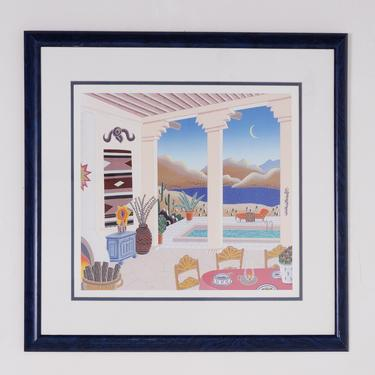 Desert Patio Print by BetsuStudio