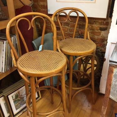 Pair Vintage Thonet Bentwood And Cane Chairs Bars Tools Pickup Only Delivery To Selected