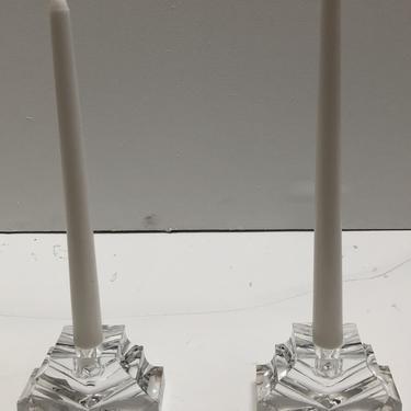 Pair of Baccarat Candlesticks