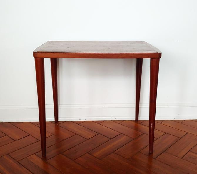 Vintage Danish Modern Teak Side End Table by ModandOzzie