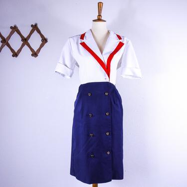 Vintage Sailor Dress / Size 10 by blackwellhabitat