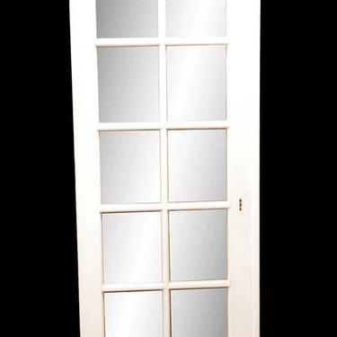 Antique 10 Lite Wood French Door 79.5 x 30