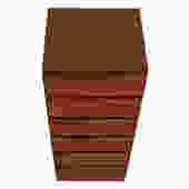 Iversen Super Slim & Tall 8 Drawer Walnut Lingerie / Jewelry Chest