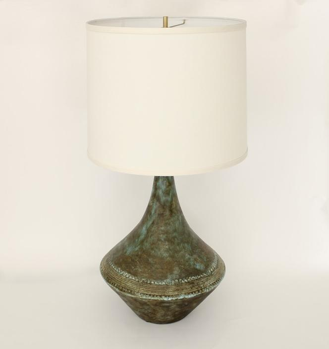 2 Potiers French Ceramic Table Lamp by les 2 Potiers Michelle and Jacques Serre