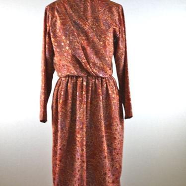 Orange Rust Pen Stroke Feather Draped Dress by citybone