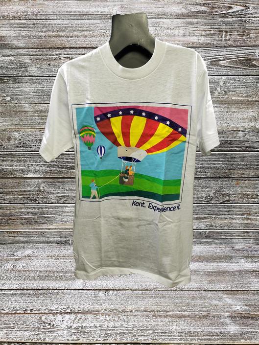 Vintage Kent Cigarettes T-Shirt MEDIUM, DEADSTOCK Mens Shirt, Hot Air Balloon, Short Sleeve Tee, Cigarette Advertising, NOS Vintage Clothing by AGoGoVintage