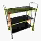 Vintage Brass Bar Cart Media Stand