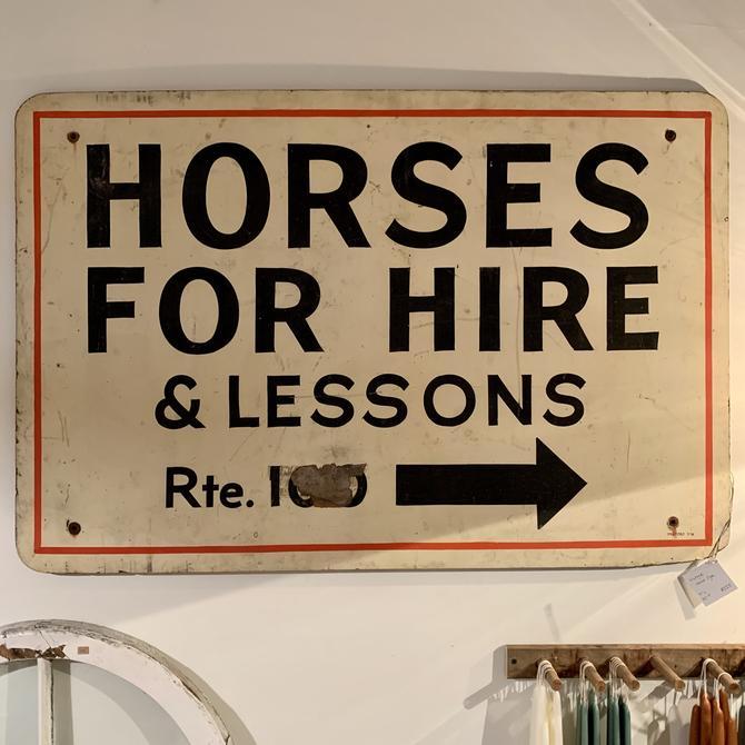 Vintage Horse Sign