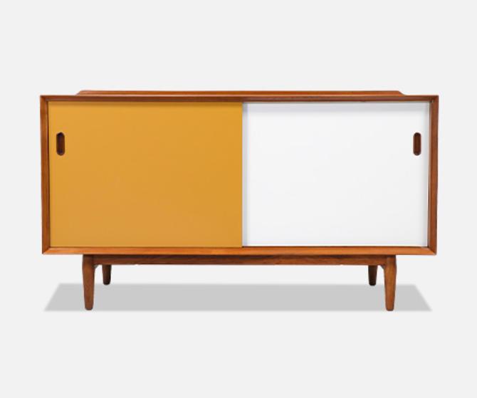 Arne Vodder Lacquered & Teak Credenza with Reversible Doors for Sibast Møbler