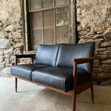 Mid century loveseat Danish modern settee mid century sofa by VintaDelphia