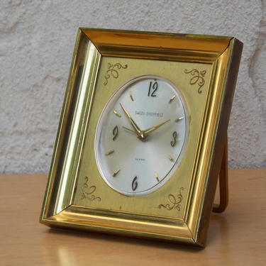 Swiza Sheffield Small Brass Wind Up Alarm Clock by ilikemikes