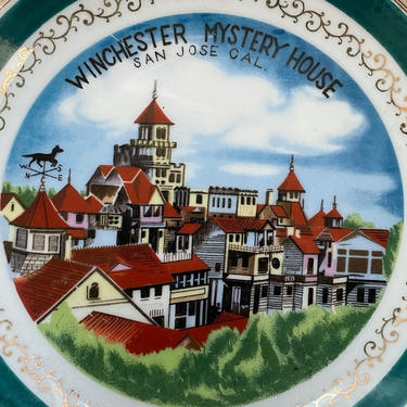 Vintage Winchester Mystery House Souvenir Plate | San Jose CA Collectible Plate by blindcatvintage