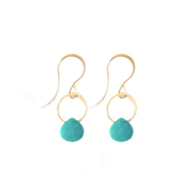 Turquoise Single Drop Earrings
