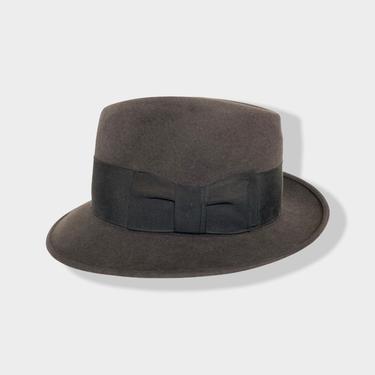 Vintage 1960s STETSON Sovereign Fedora ~ size 6 7/8 ~ Hat ~ Stingy Brim ~ Fur Felt ~ Trilby by SparrowsAndWolves