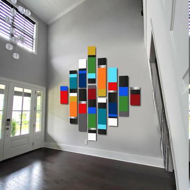 CUSTOM ORDER - Harneet - Custom Mod Colorblock by LauraAshleyWoodArt