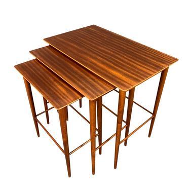 Vintage Danish Mid Century Modern Mahogany Nesting Tables. by AymerickModern
