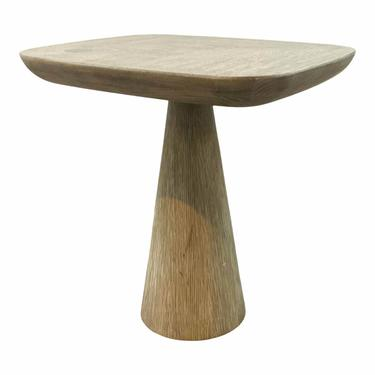 Arteriors Organic Modern Gray Smoke Oak Wharton Side Table
