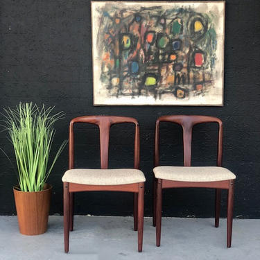 D Scan Walnut Dining Chairs \/ Sold per pair