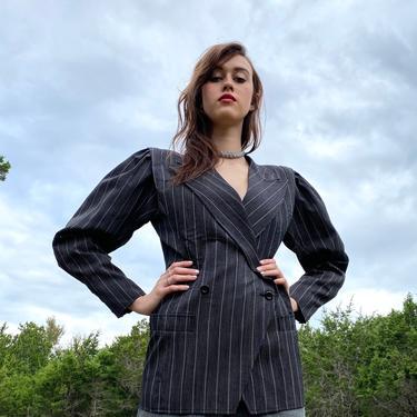 Vintage 1980s Jacket Ungaro Parallele Couture 80s Designer Blazer Blade Runner Nipped Waist Avant Garde by littlestarsvintage