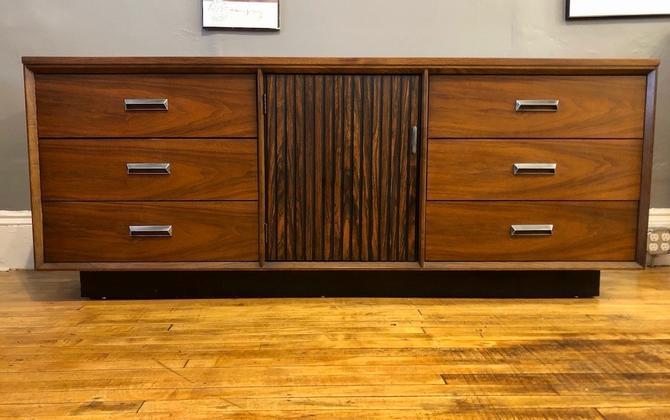 Mid Century Lowboy/Dresser by Basset- 9 Drawers