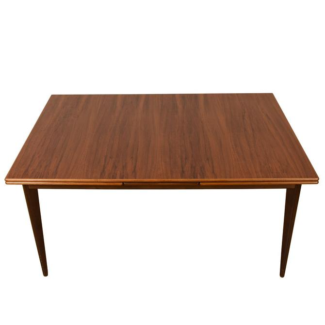 Mid Century Modern Walnut Expanding Rect Dining Table