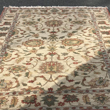 Vintage Persian Style rug hand knotted by BigWhaleConsignment