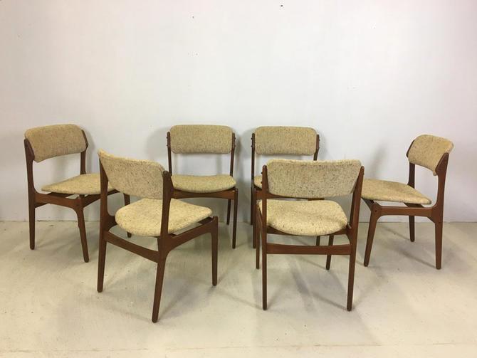 Set of 6 Danish Modern Dining Chairs Designed by Erik Buch by retrocraftdesign