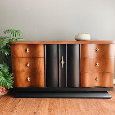 SOLD *** Mid Century Dresser - Sideboard Buffet by madenewdesignct