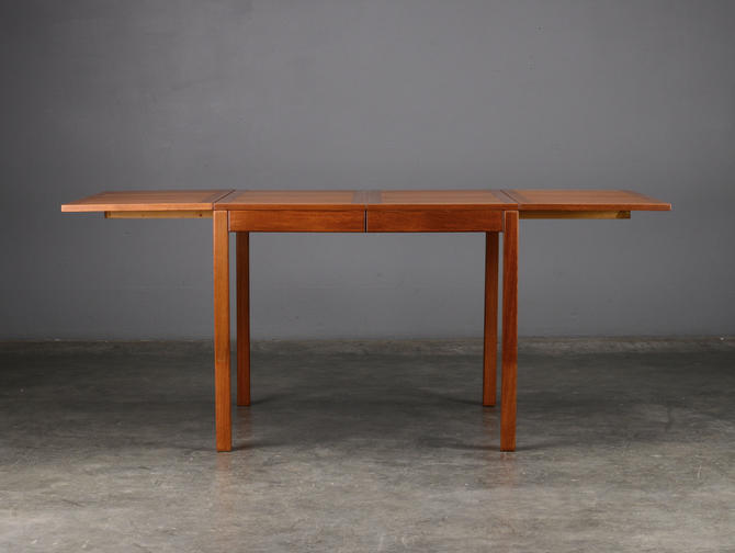 Square-to-Rectangle Expanding Dining Table Teak Mid Century by MadsenModern