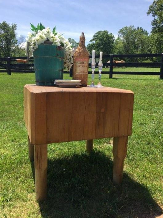 Extra Large Antique Butcher Block Island/Table