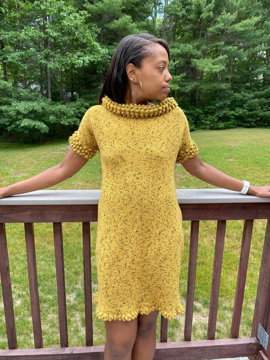 Vintage Yellow 1950s/60s Knit Dress, Summer, Spring, Small, Medium by ChicBeatVintage