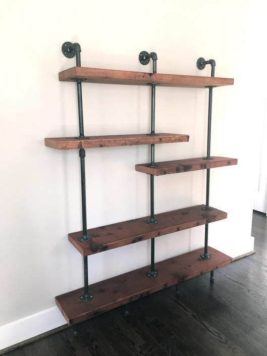 The Quot Addison Quot Bookshelf Reclaimed Wood Shelving Unit
