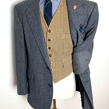 Vintage PENDLETON Wool Tweed Blazer ~ size 44 R ~ jacket / sport coat ~ Elbow Patches ~ Preppy / Trad / Ivy Style by SparrowsAndWolves