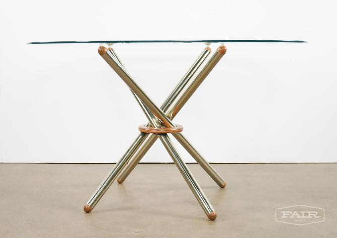 Chopstick base with Glass top Dining Table
