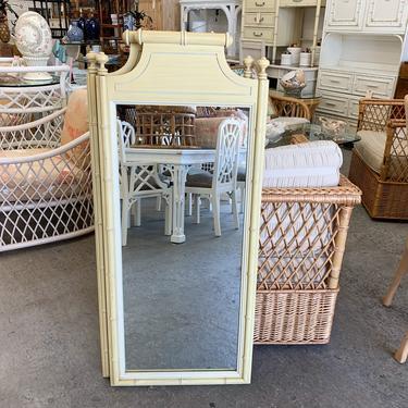 Pair of Palm Beach Faux Bamboo Mirrors