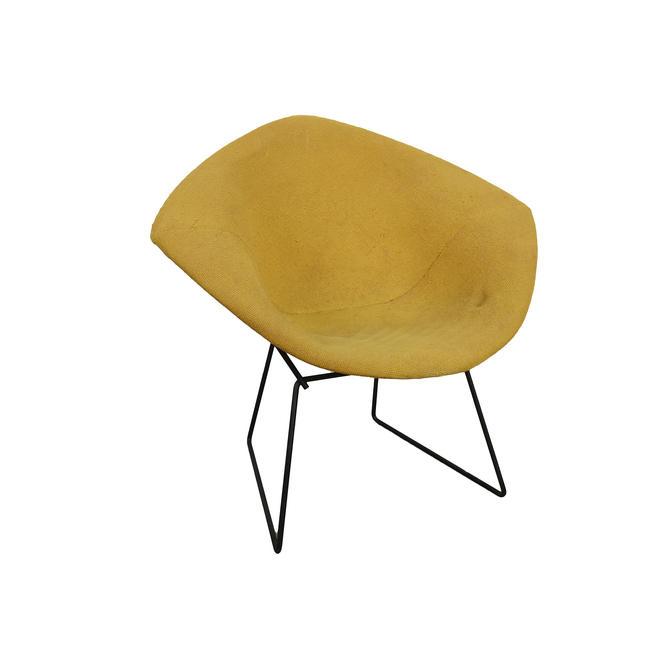 Bertoia Diamond Chair Knoll Black Wire Lounge Chair Mid Century Modern Vintage Chair by HearthsideHome