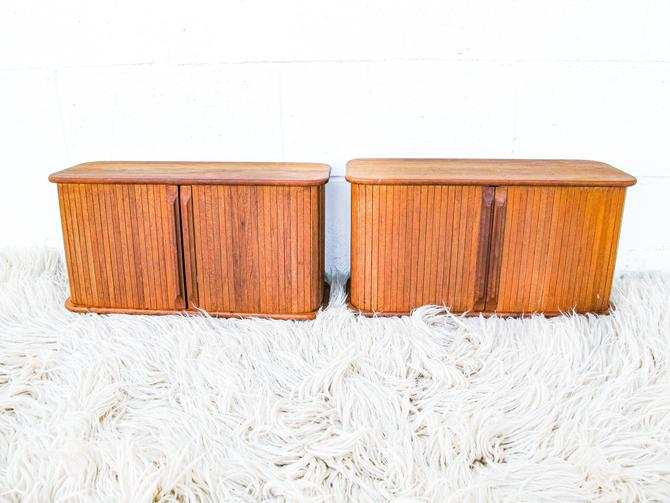 2 Available - Sold Separately - Vintage Sliding wood wall cabinets by PortlandRevibe