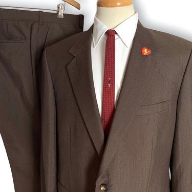 Vintage 1970s 2pc SHARKSKIN Suit ~ size 42 R ~ Jacket / Pants ~ Rockabilly / Mod ~ Preppy / Ivy Style / Trad ~ Fleck by SparrowsAndWolves