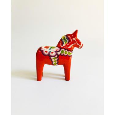 "Vintage 5"" Red Swedish Dala Horse by Nils Olsson by SergeantSailor"