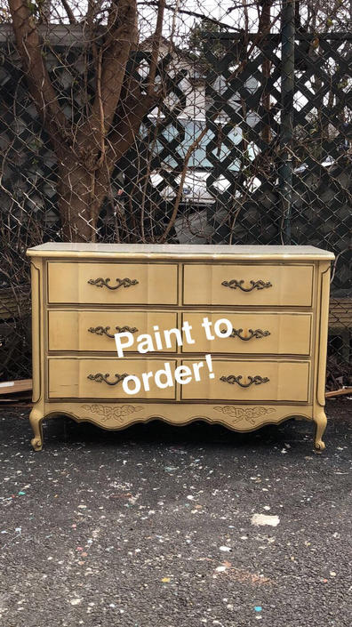 Custom Paint French Provincial Dresser Solid Wood Dresser By